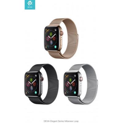 Cinturino per Apple Watch 4 serie 44mm Maglia Milano Silver