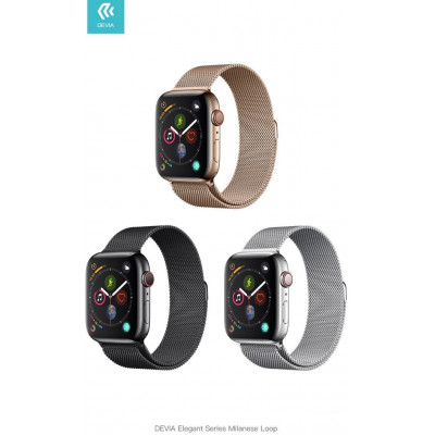 Cinturino per Apple Watch 4 serie 44mm Maglia Milano Black