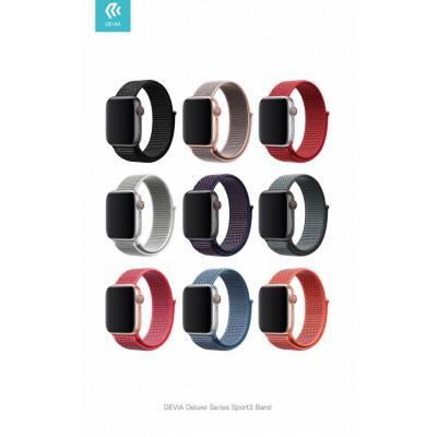 Cinturino per Apple Watch 4 serie 44mm Delux Sport 3 Red