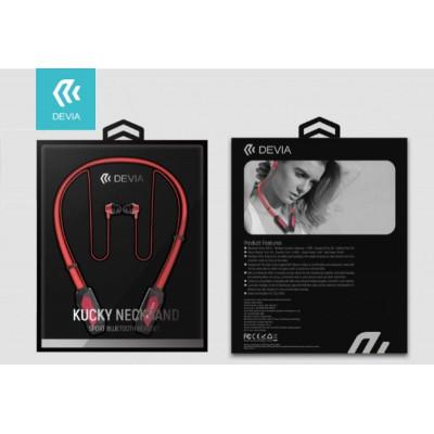 Auricolari Bluetooth Sport con Archetto Magnetico Rosso