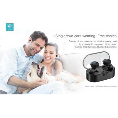 Auricolari stereo TWS Bluetooth 5.0 con box di carica nero
