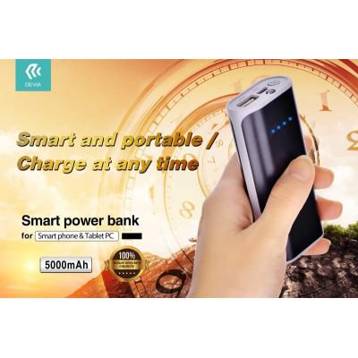Devia Power Bank Smart 5000 m.a.con Luce Flash