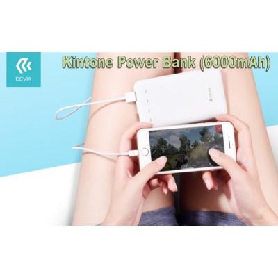 Power Bank 6.000 mAh Doppia Uscita Usb 2.1 A. Bianco
